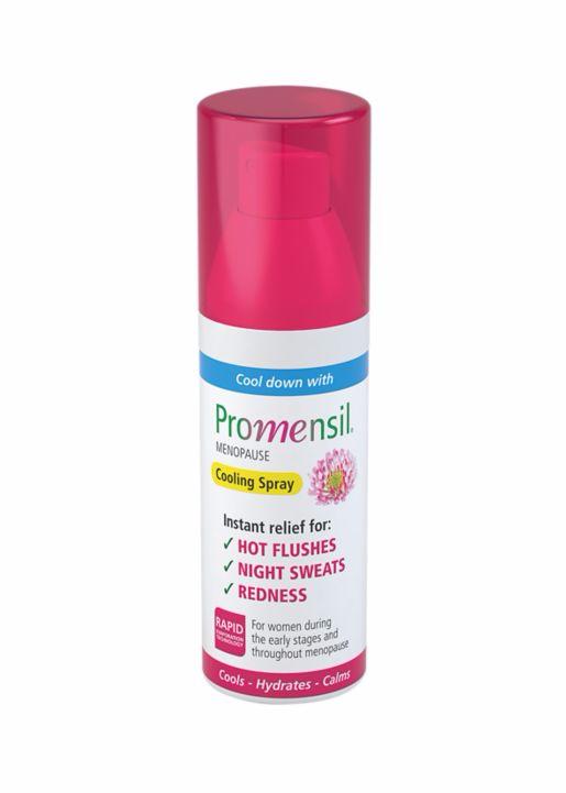 Verkoelende spray bij opvliegers en nachtelijk zweten veroorzaakt door de overgang - Promensil-Coolingspray